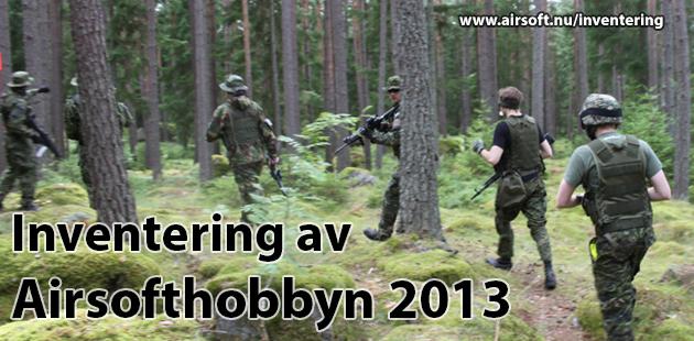 Inventering av Airsofthobbyn 2013