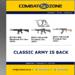 Combat Zone: Classic Army is back