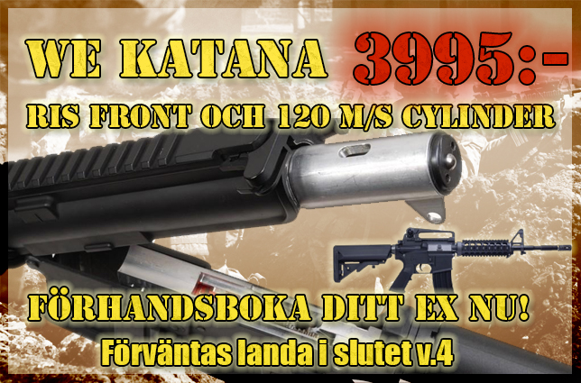 Striker Airsoft: Nya WE Katana landar i Sverige!