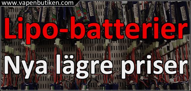Vapenbutiken - prissänkning på LiPo-batterier
