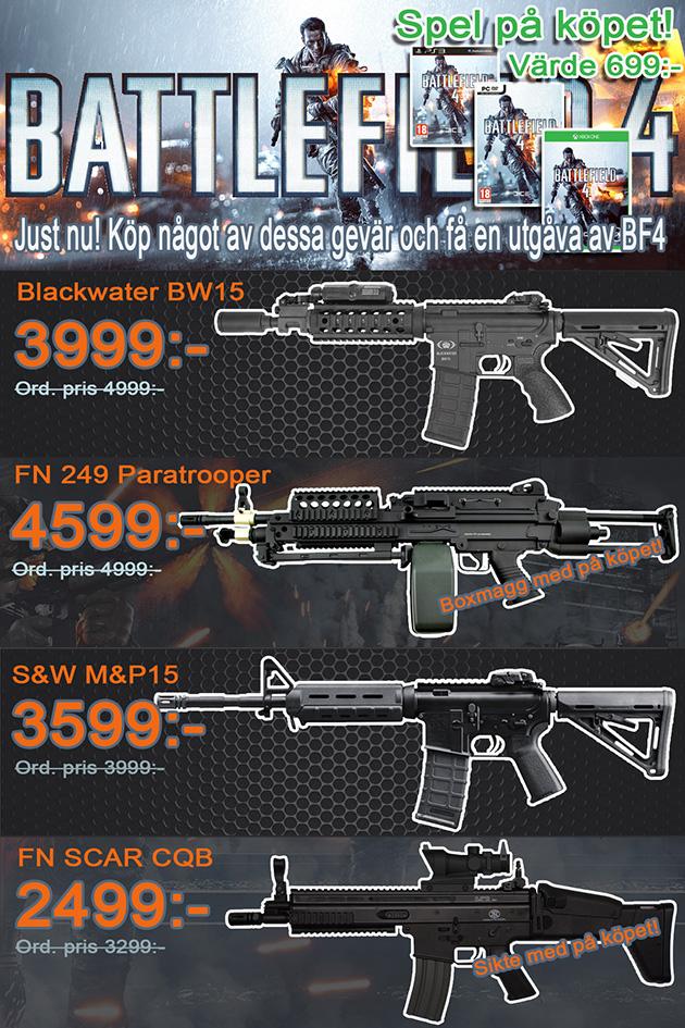 Frysen Airsoft: Battlefield 4 på köpet