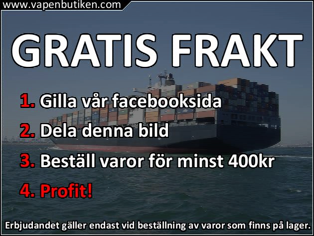 Vapenbutiken - GRATIS FRAKT