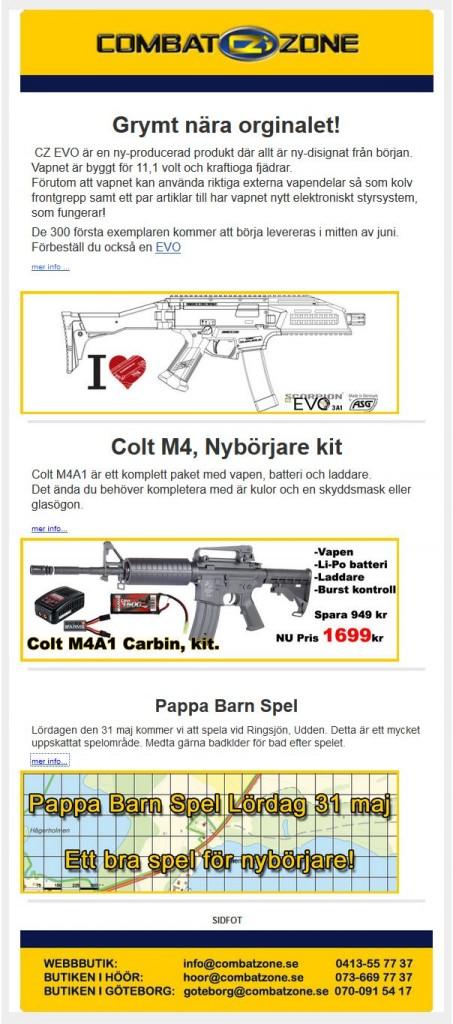 Combat Zone nyhetsbrev maj 2014