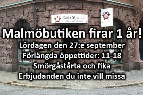 Röda Stjärnan: Malmöbutiken firar 1 år