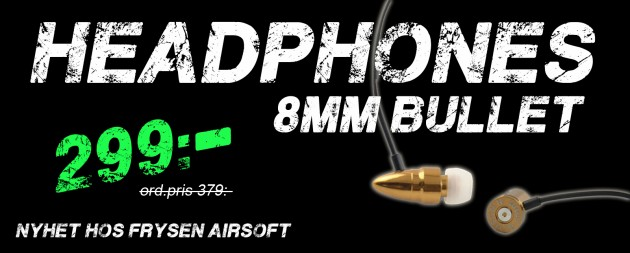 8mm bullet headphones
