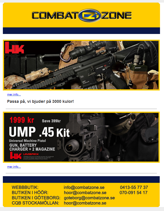 Combat Zone nyhetsbrev februari 2015