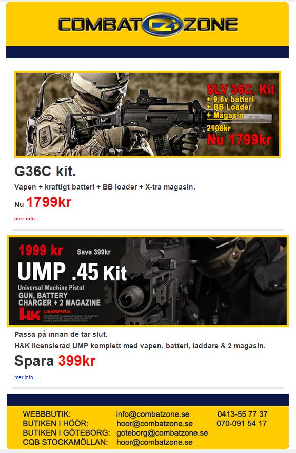 CombatZone nyhetsbrev mars 2015