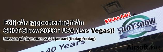 Följ vår rapportering från SHOT Show 2018 i USA (Las Vegas)!