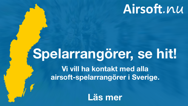 Spelarrangörer, se hit! Vi vill ha kontakt med alla airsoft-spelarrangörer i Sverige.