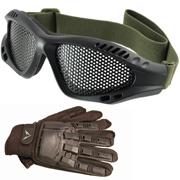 Jackal metal wire protective goggles Black och Jackal Gear Tactical Handskar Helfinger från TacticalStore