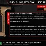 Stark Equipment SE-3 Vertical Foregrip Grip från Madbull