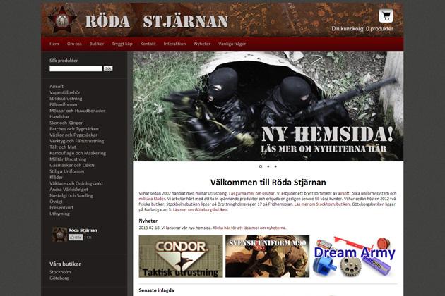 Röda Stjärnans Militaria har ny webshop