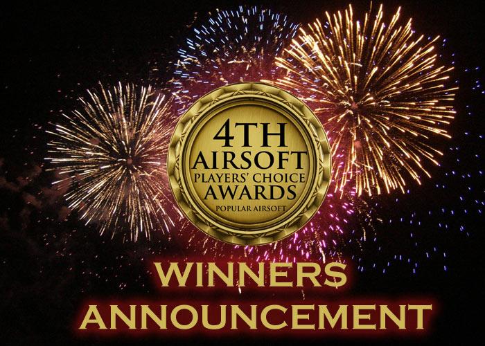 Vinnarna i 4th Airsoft Players' Choice Awards