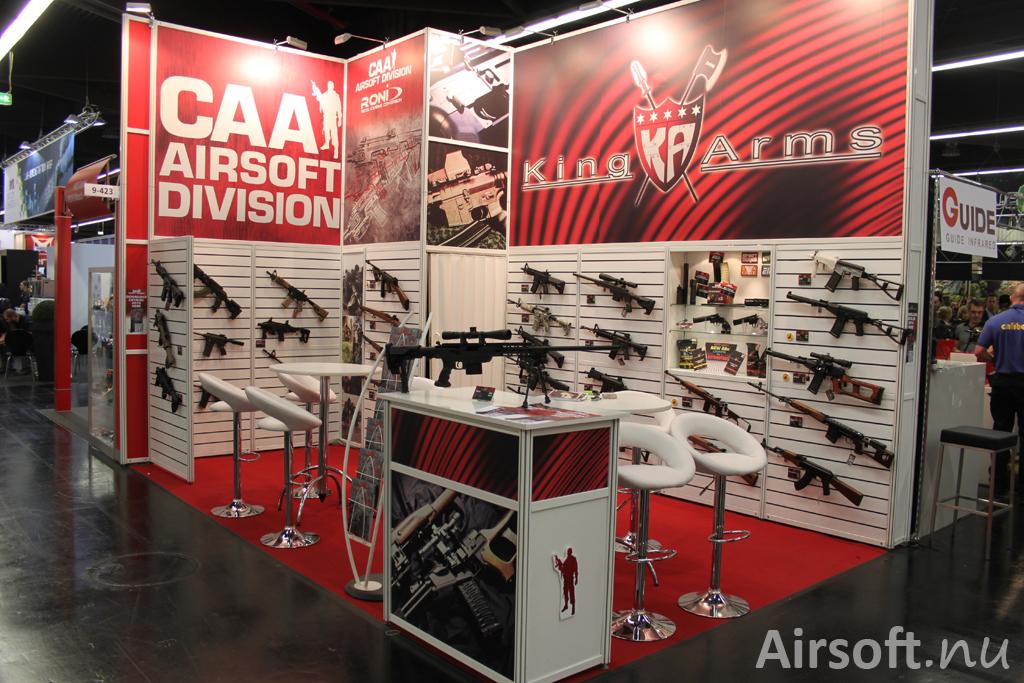 King Arms och CAA Airsoft.