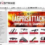 Butiken Tacticalstore lanserar butiken AirStrike.se dedikerad airsoft