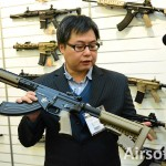 IWA 2015: Bolt Airsoft BR47 URX 3.1 Stoner Rifle (Tan)