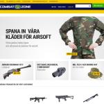 Butiken Combat Zone har lanserat ny webshop