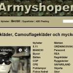 Butiken Armyshopen i Umeå lägger ner fysiska butiken
