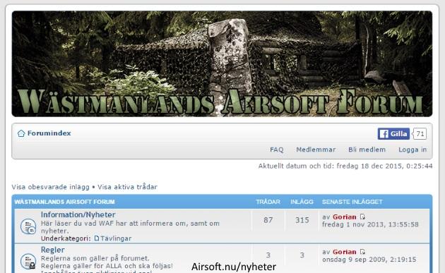 Wästmanlands Airsoft Forum WAF