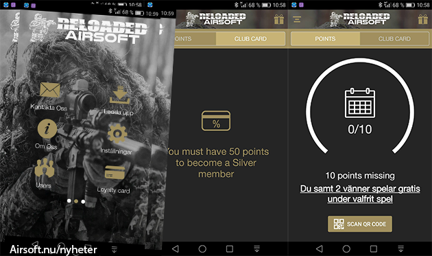 Reloaded Airsofts app