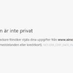 Forumet AirsoftSverige har certifikatfel