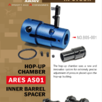 Hop-up chamber och Inner barrel spacer för Ares AS01 från Action Army
