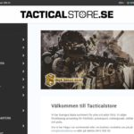 Butiken Tacticalstore har uppdaterat designen i webshopen