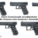 Fem Umarex Glock-airsoftpistoler lanseras i november