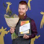Mattias Ljus (ActionAir Strömsund) mottog Ledarstipendium 2018