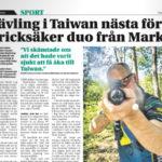 Markbladet: Tävling i Taiwan nästa för pricksäker duo från Mark