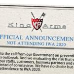King Arms ställer in medverkan på IWA 2020