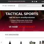 Lansering av Tactical Sports webshop