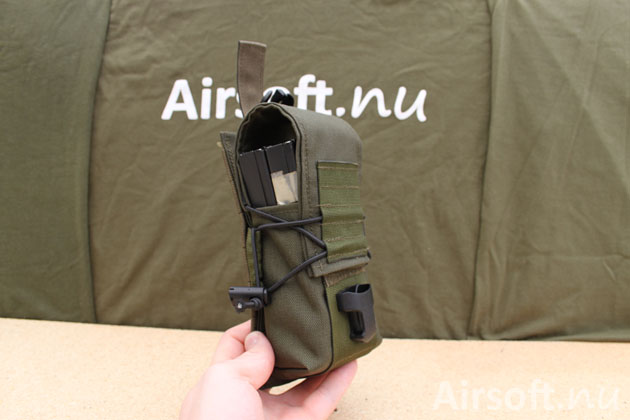 The KDL is made of olive drab 1000D Cordura fabric with a flap that is attached with velcro.