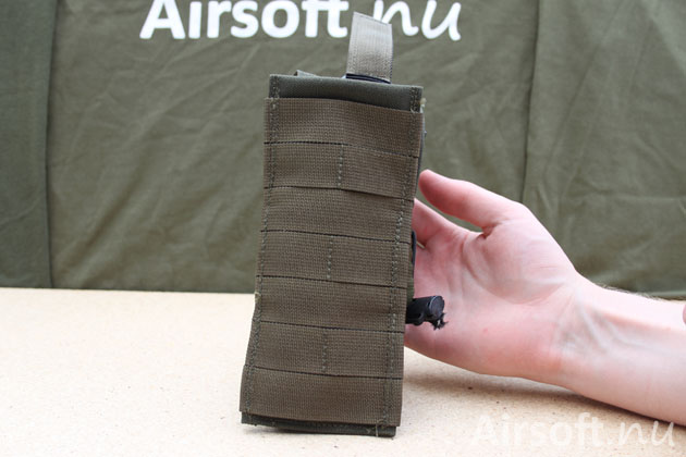 The backside of the pouch have MOLLE interface for attaching in MOLLE system.
