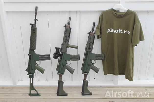 G&G AK5 (GF85 GL), AK5C (GK5C GL med extrautrustning) och AK5D prototyp (GK5D prototyp)