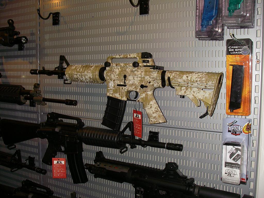 M4 med camo-textur.