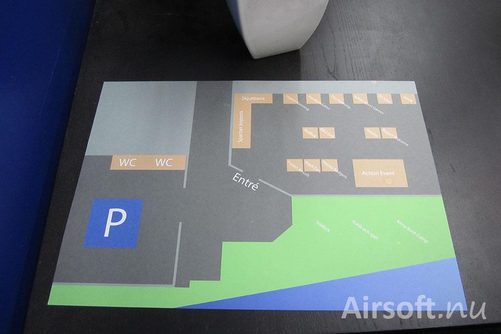 Karta över Frysen Airsoftcon.