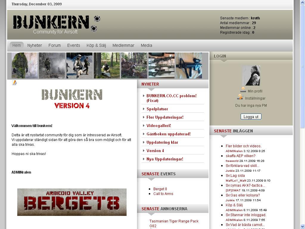 Startsida Bunkern.co.cc
