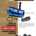 Hop-up chamber och Inner barrel spacer för Ares AS01 från Action Army