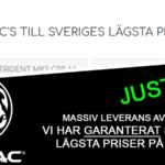 """""""Priskrig"""" på Krytac hos airsoftbutiker i Sverige"""