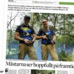 Tidningsartikel från Borås Tidning med svenska laget i G&G World Cup 2019