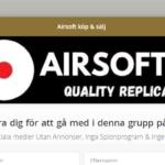 Köp & Sälj-grupp på MeWe från butiken Airsofter