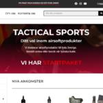 Lansering av Tactical Sports webshop
